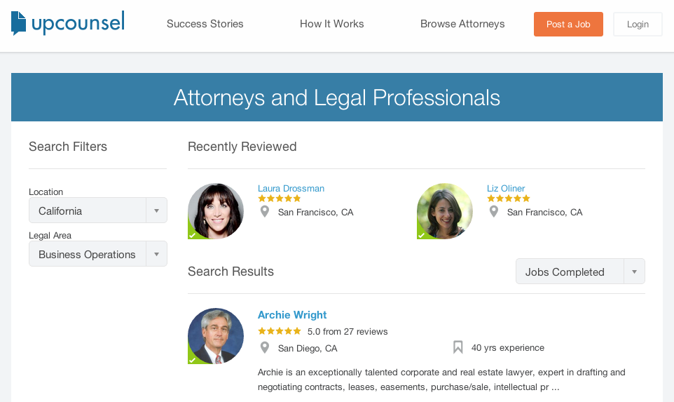 UpCounsel - Find Legal Services
