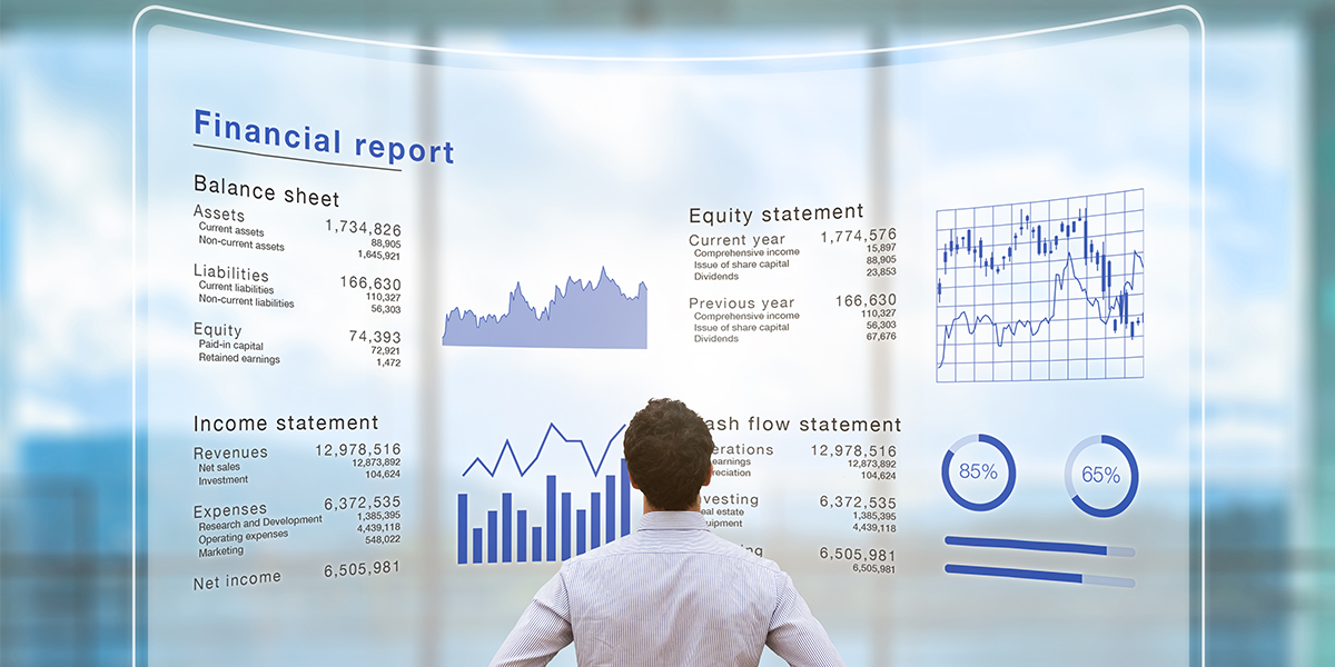 Accountant and Financial Reports 1200X600