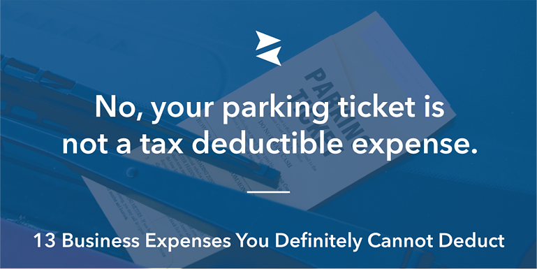 Social Image: No, your parking ticket is not a tax deductible expense.
