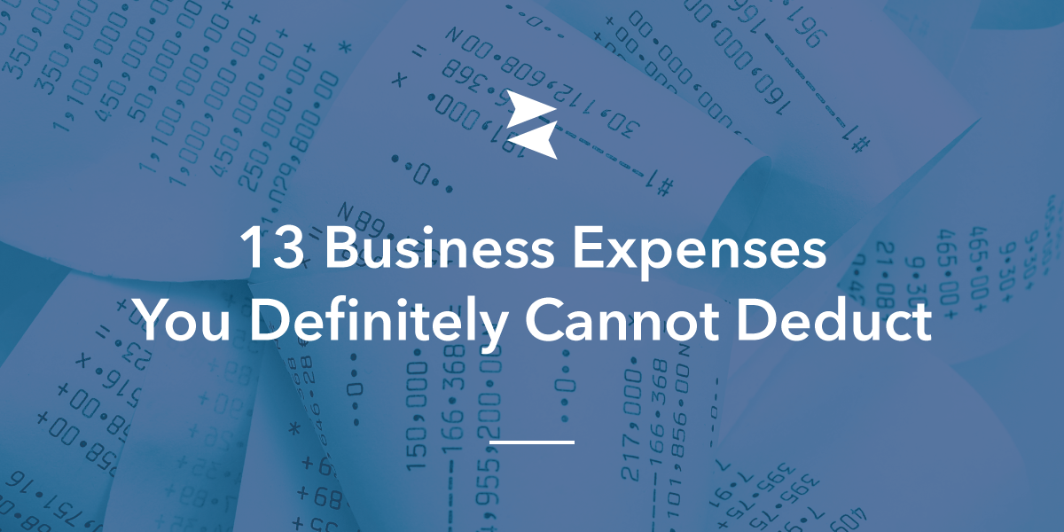Social Banner: 13 business expenses you definitely cannot deduct