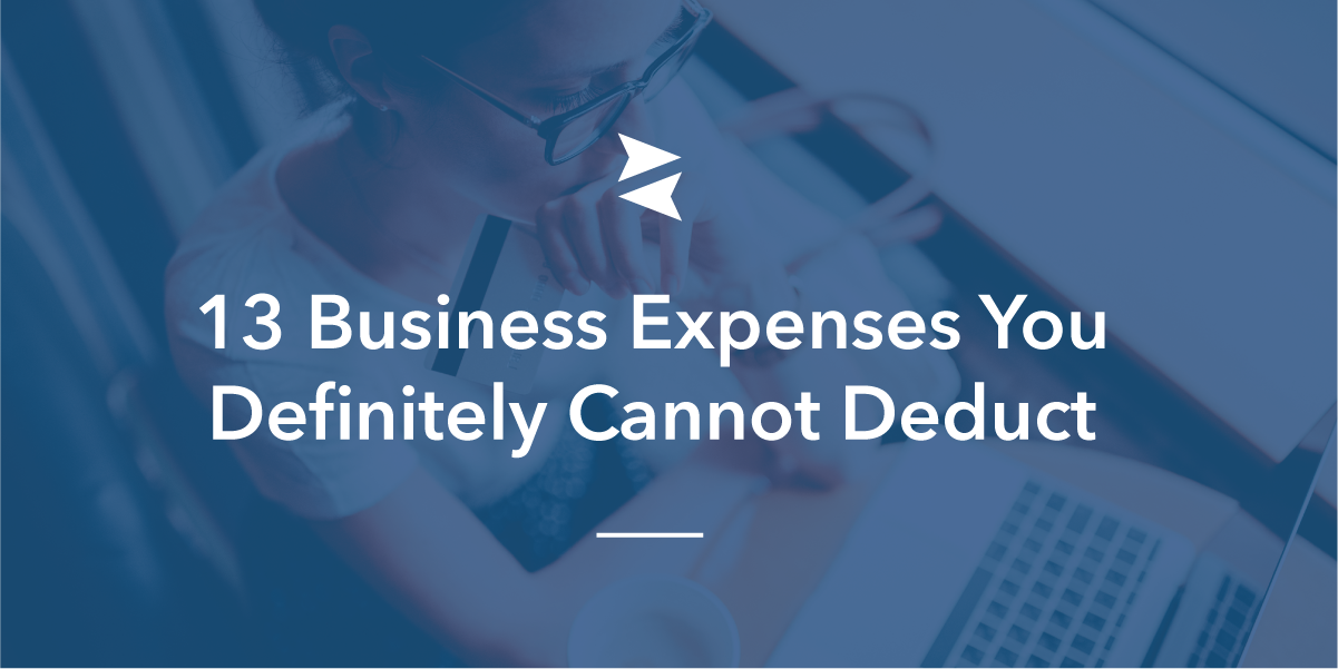 Social Banner: Woman wondering what business expenses she shouldn't try to write-off