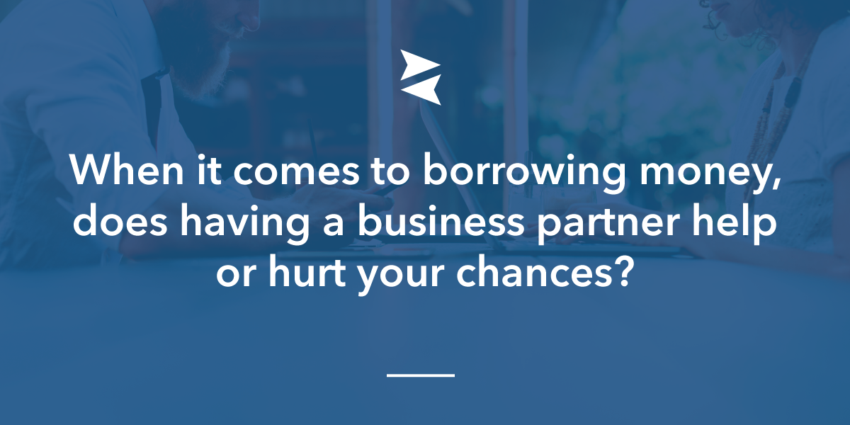 Banner Image: When it comes to borrowing money, does having a business partner help or hurt your chances?