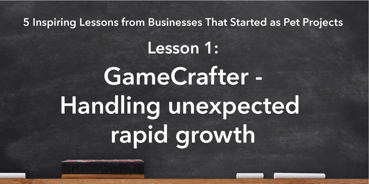 Social Media Sharing Banner Image: GameCrafter lesson is handling rapic growth over a short timeframe