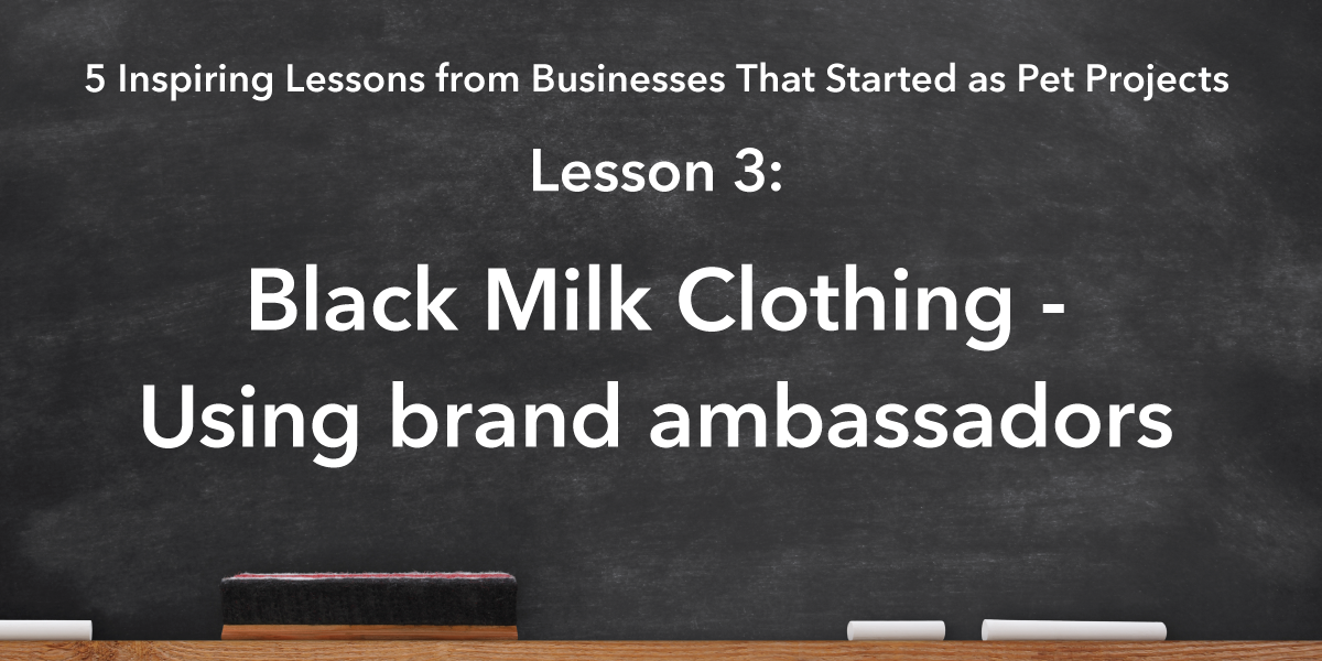 Social Media Sharing Banner Image: Black Milk Clothing Lesson is using brand ambassadors