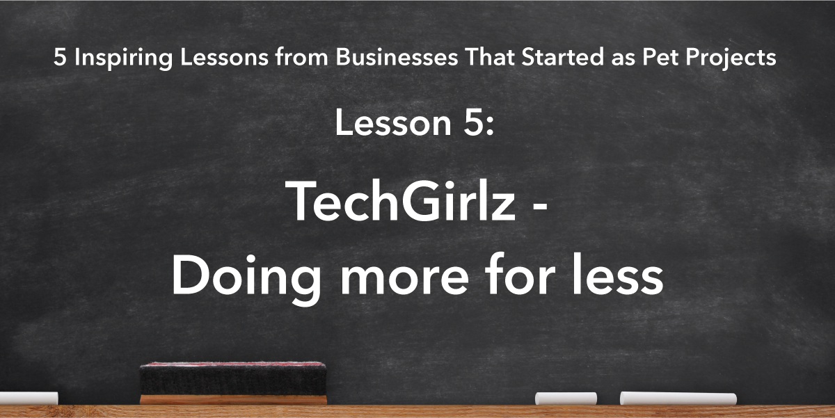 Social Media Sharing Banner Image: TechGirlz Lesson is doing more for less