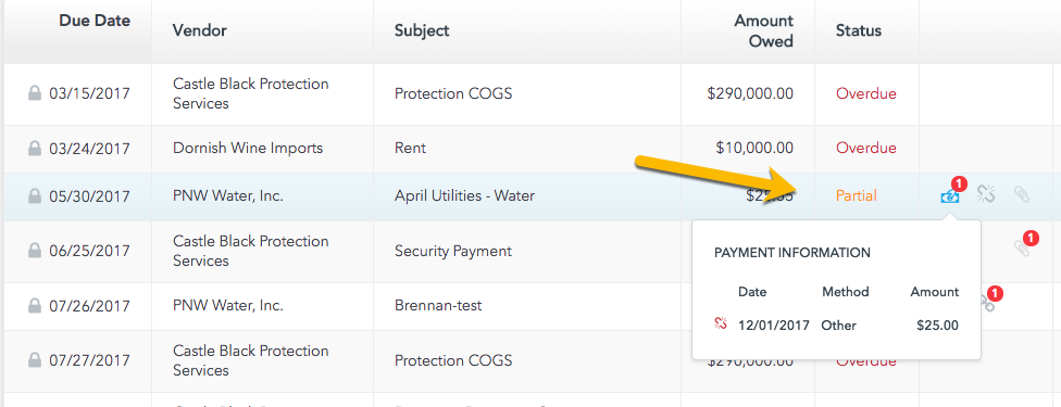Pay your water bill in installments using inDinero's bill pay feature