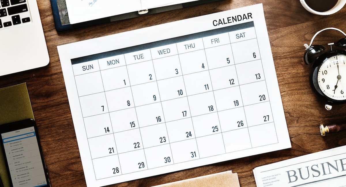 Build your own 2018-2019 tax calendar for filing your 2018 business tax return
