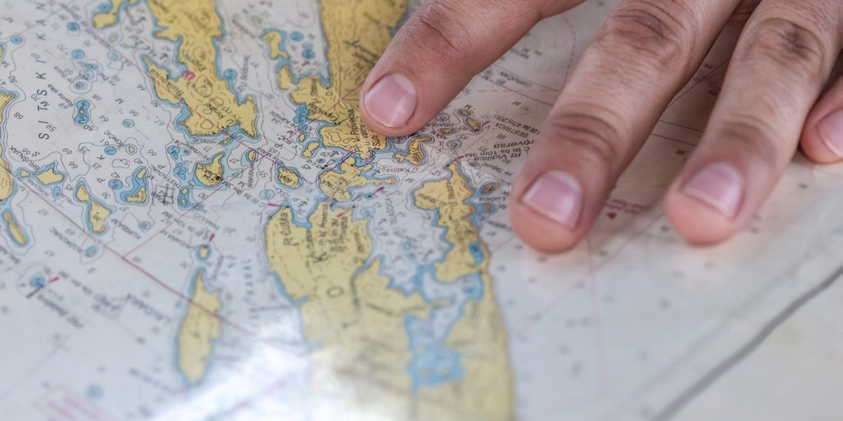 Image of a map illustrates article on filing business taxes for foreign activities