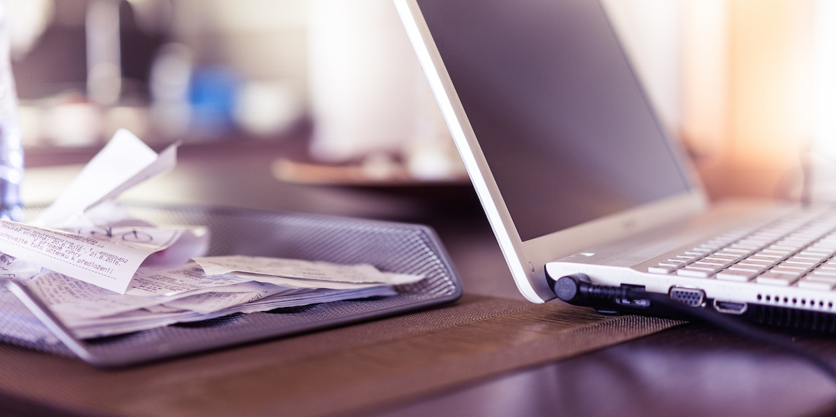 Still have piles of receipts on your desk? File the business tax extension and get organized.