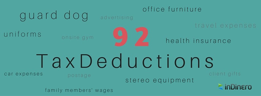 92 small business tax deductions