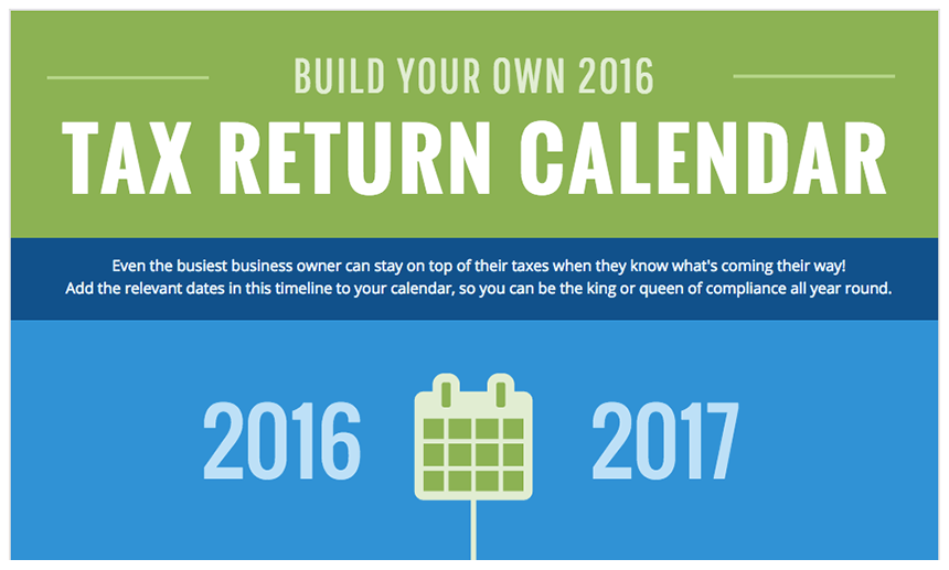 Build Your Own 2016-2017 Tax Calendar
